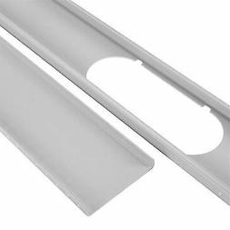 2pcs Adjustable Window Slide Kit Plate Air Conditioner Wind