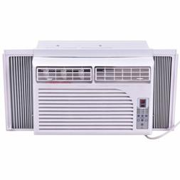 White Compact 115V Window-Mounted Air Conditioner With Remot