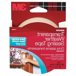3M Interior Transparent Weather Sealing Tape, 1.5-Inch by 10