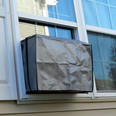 a c air conditioner outdoor window cover