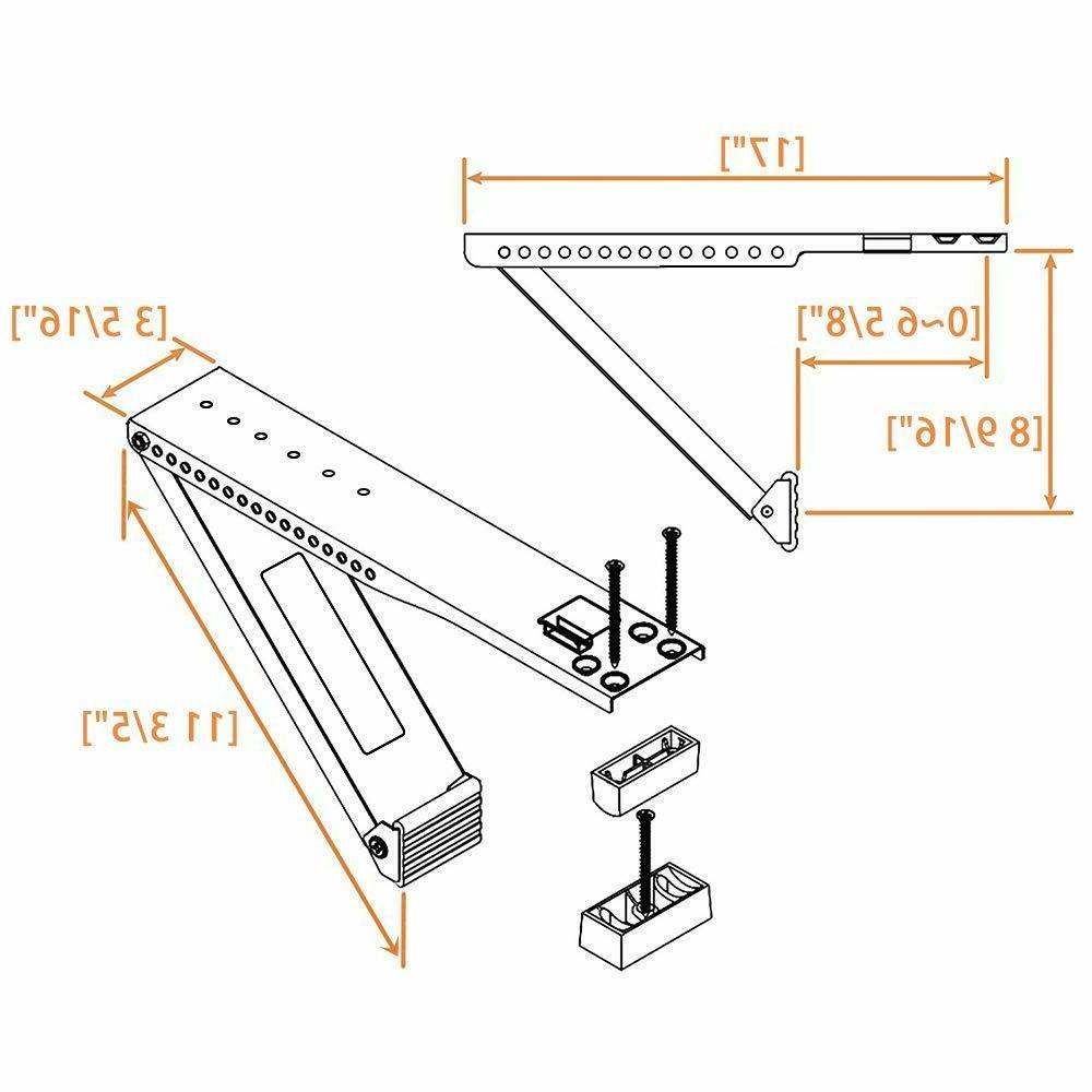 Jeacent AC Window Conditioner Support Bracket Heavy Duty, Up lbs