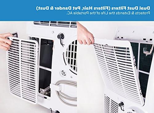 Honeywell Air Conditioner, 000 BTU, White/Blue