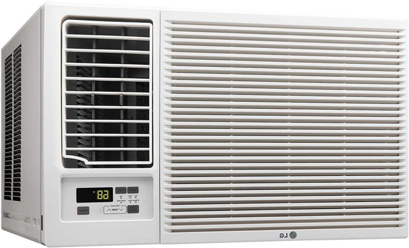 LG 12,000 BTU 230V Window-Mounted Conditioner with 11,200 Heat Function