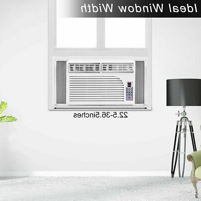 New 8K BTU Compact 115V Window-Mounted Conditioner With Control