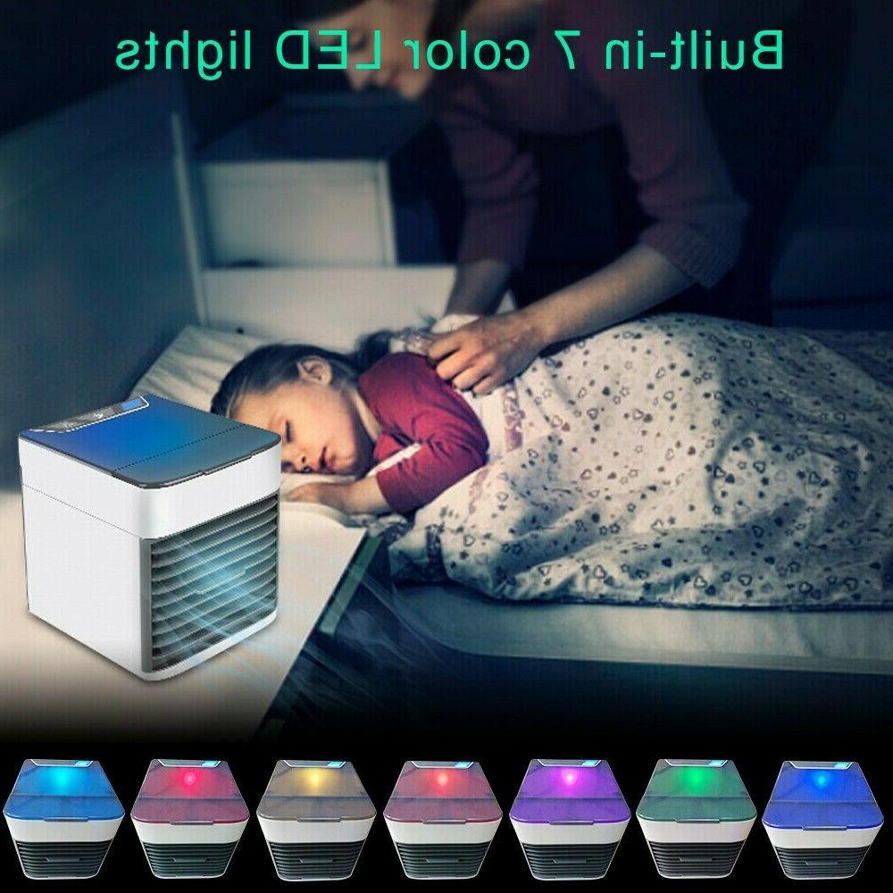 Portable Air Cooler Colors LED USB Personal Cooler