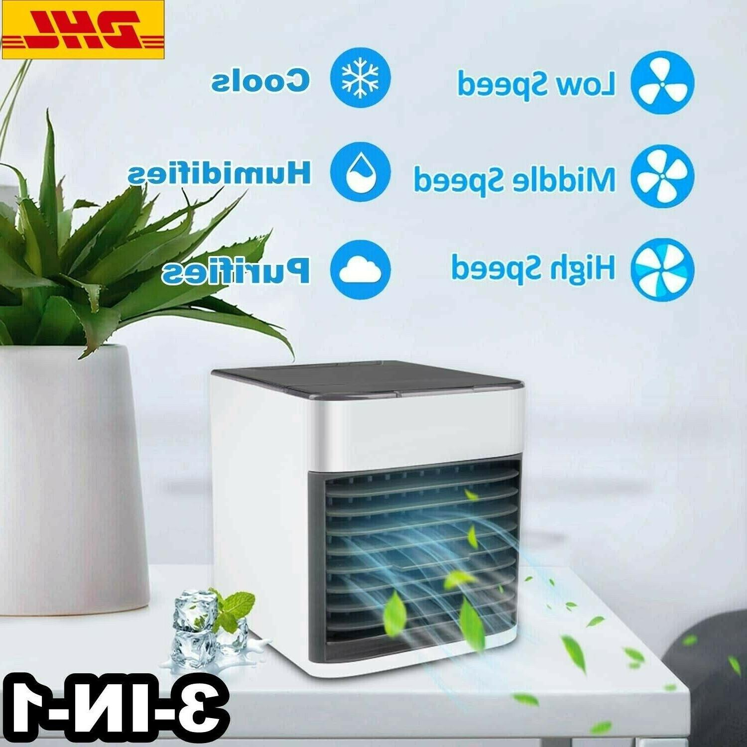 Portable Air Cooler 7 LED USB Window Cooler