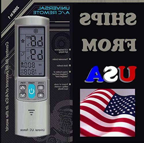 Universal Ac Remote Control For Mini Split Ductless Air
