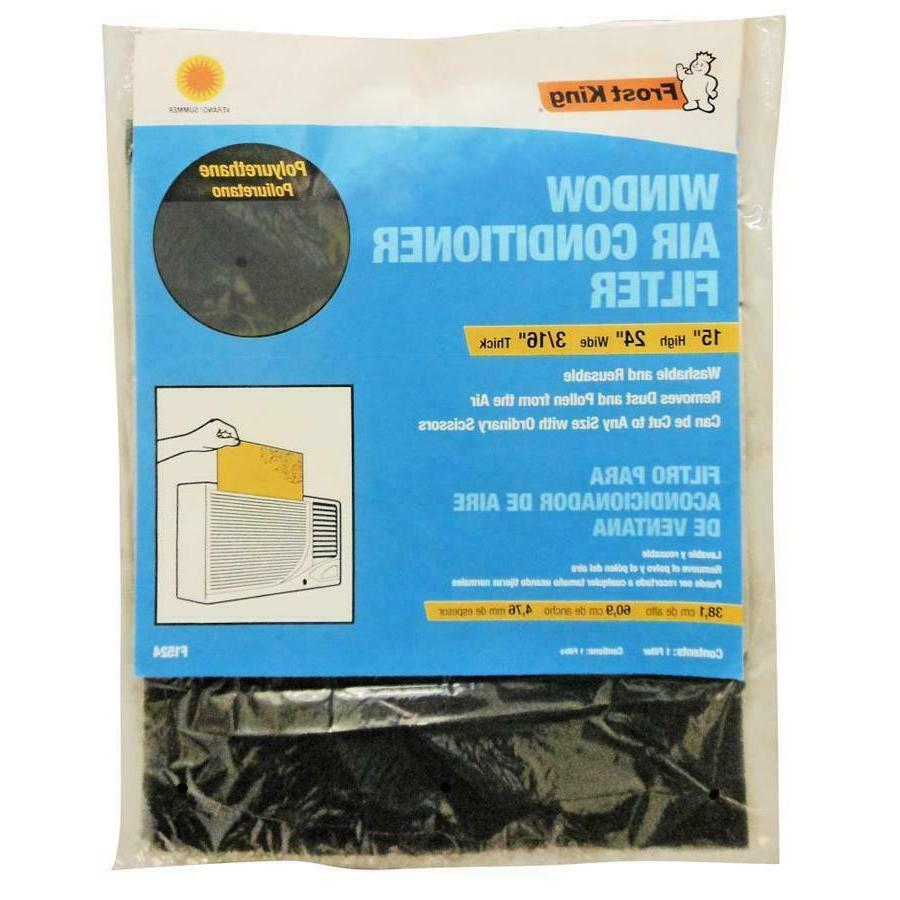 Window Air Conditioner Filter Washable AC To Fit Polyurethan