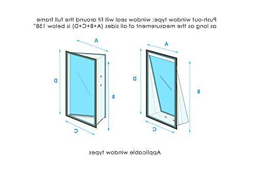 Window Seal Unit – For Portable Air – Zip and – Seal Tilted Maximum Length of 158''