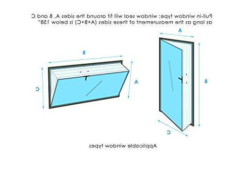 Window for Unit – Window Seal – AC Zip and – Best Way Seal Tilted Maximum