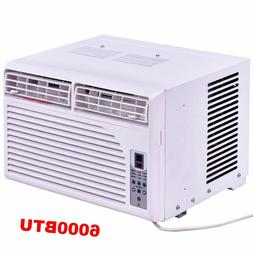Window Air Conditioner Unit Small Compact Mount With Remote