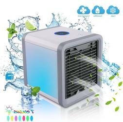 USB Portable Air Cooler Fan Air Conditioner 7 Colors Light C