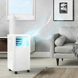 White 9,000 BTU Portable Air Conditioner Remote Dehumidifier